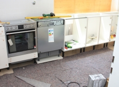 Einbau eines Geschirrspülers in eine alte Küche