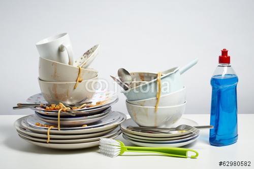 Verschmutzungen vom Geschirr